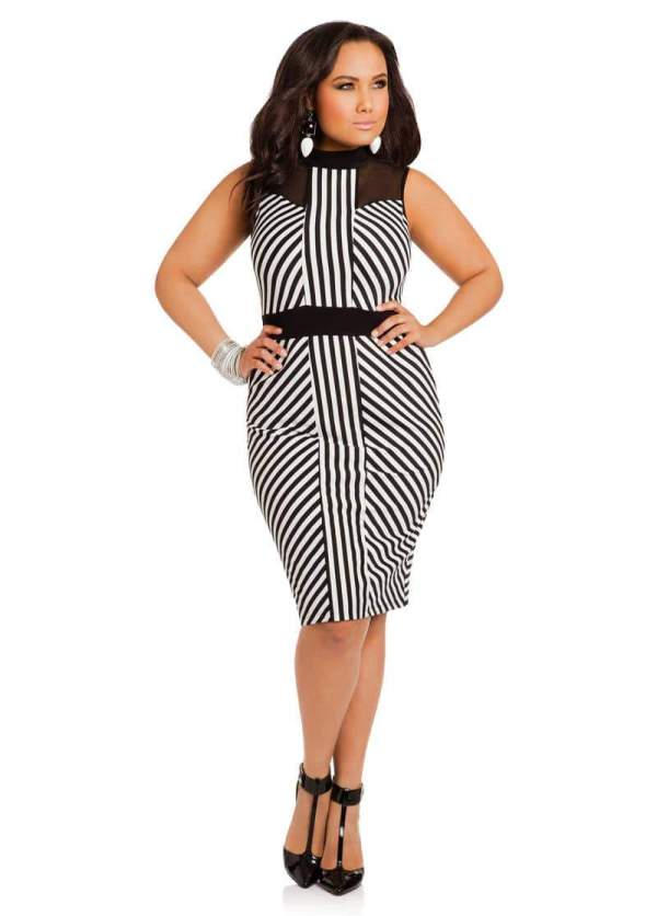 Gotta Ashley Stewart Black And White Striped