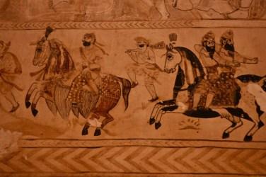 Parthian Shot Mural, Laxmi Narayan Temple, Orchha, Madhya Pradesh