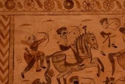 Murals showing a battle scene, Laxmi Narayan Temple, Orchha, Madhya Pradesh