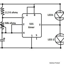 blink two leds alternatively with 555 ic classic ic circuit diagram blink two leds alternatively [ 1004 x 788 Pixel ]