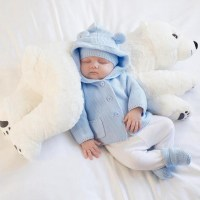Adorable Polar Bear Baby Pillow. Buy Now and Get Free