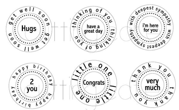 The Cutting Cafe': All Occasion Circle Word Set 1