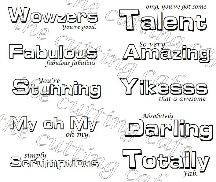 The Cutting Cafe': CHUNKY PRAISE PHRASES PRINTABLE STAMP SET..