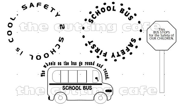 The Cutting Cafe': SCHOOL BUS DRIVER PRINTABLE STAMP SET