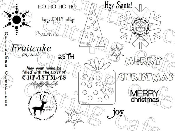 The Cutting Cafe': ALL ABOUT CHRISTMAS...PRINTABLE SET