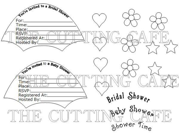 The Cutting Cafe': UMBRELLA SHAPED CARD & INVITE SET..PDF