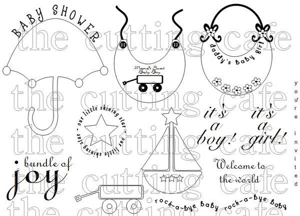 The Cutting Cafe': ALL ABOUT BABIES....PRINTABLE STAMP SET