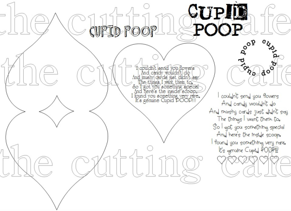 The Cutting Cafe': CUPID POOP TOPPER....PRINTABLE STAMP
