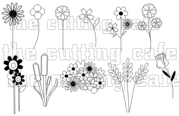 The Cutting Cafe': BEAUTIFUL BLOOMS....PRINTABLE STAMP SET
