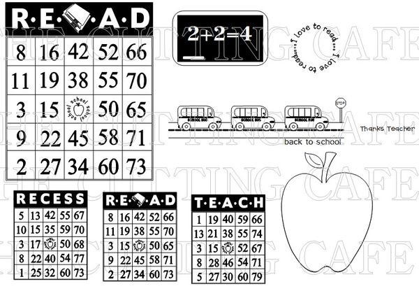 The Cutting Cafe': ALL ABOUT SCHOOL...PRINTABLE STAMP SET