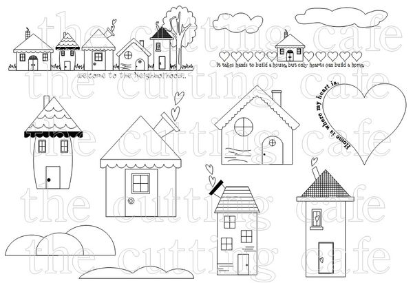 The Cutting Cafe': WELCOME HOME....PRINTABLE STAMP SET