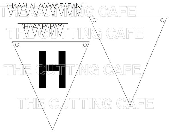 The Cutting Cafe': HALLOWEEN BANNER SET....TEMPLATE
