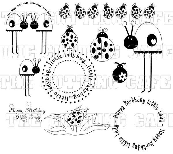 The Cutting Cafe': CUTE CRITTERS...PRINTABLE STAMP SET.....