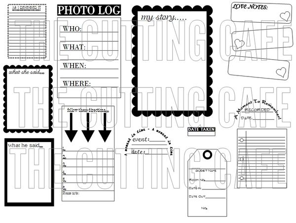 The Cutting Cafe': JOT IT DOWN...PRINTABLE STAMP SET