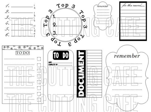 The Cutting Cafe': Journaling Printable Stamps