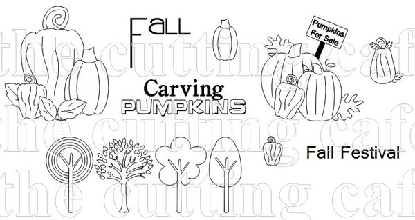 The Cutting Cafe': WELCOME FALL......PRINTABLE STAMP SET