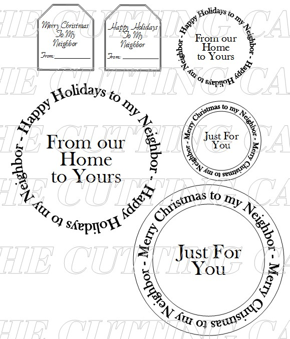 The Cutting Cafe': HAPPY HOLIDAYS TO MY NEIGHBOR