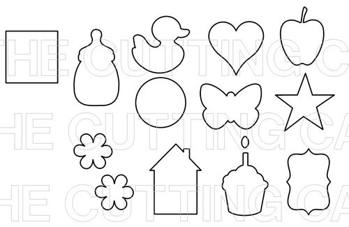 The Cutting Cafe': ASSORTED SHAPES MILK CARTON....TEMPLATE