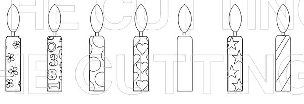 The Cutting Cafe': BIRTHDAY CANDLES....PRINTABLE STAMP SET