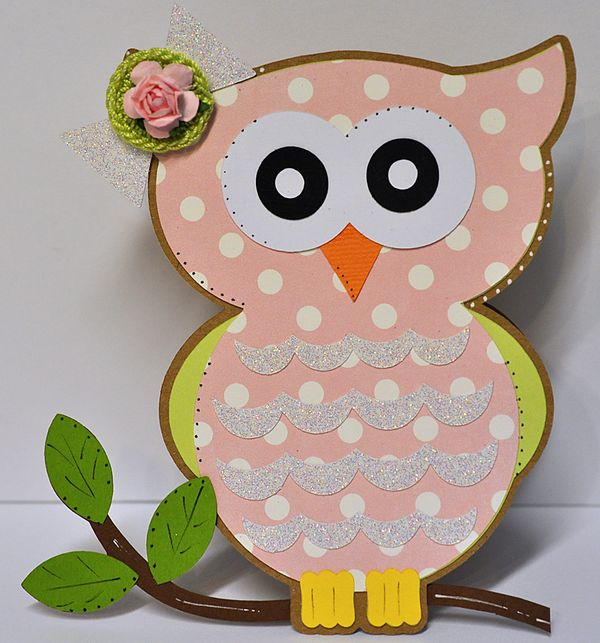 The Cutting Cafe OWL SHAPED CARD SETTEMPLATE