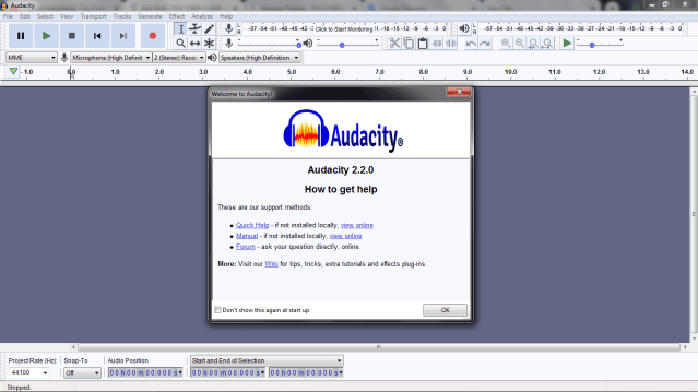 how to amplify sound in audacity Welcome Screen Image.