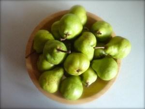 Ripe pears are delicious