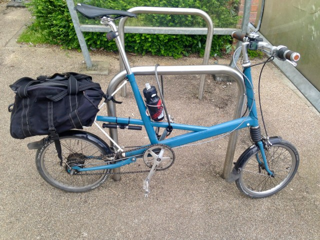 Moulton bicycle in Ampthill
