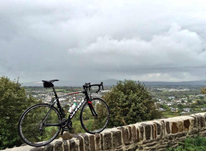Vitus Venon VR Overlooking Carrick on Suir from Seskin hill