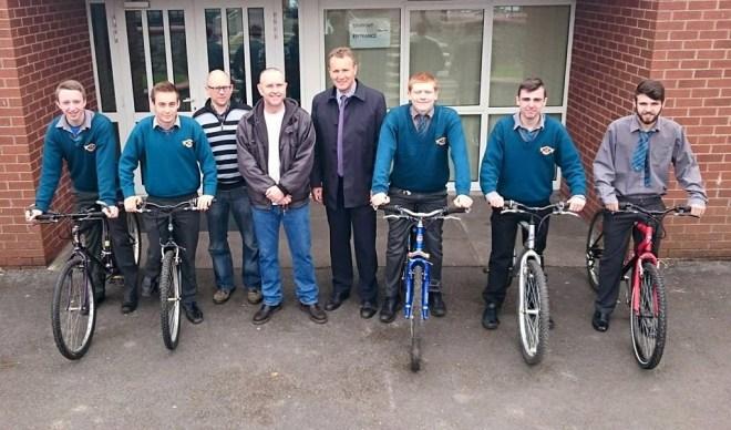bikes donated to dungarvan cbs