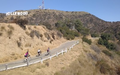 BEST PLACES TO CYCLE IN LOS ANGELES: Hollywood Sign, Mulholland Dam, and Griffith Observatory