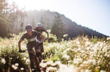 Adam and Mariska Mountain Biking