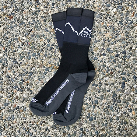 """Black """"The Cycling Co."""" Riding Socks"""