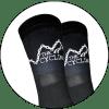 The Cycling Co. Black Riding Socks