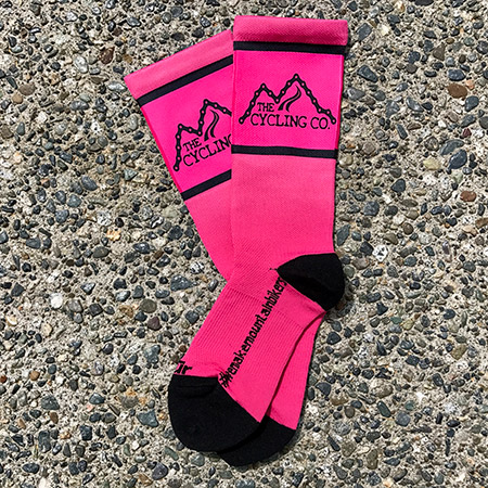 "Pink ""The Cycling Co."" Riding Socks"