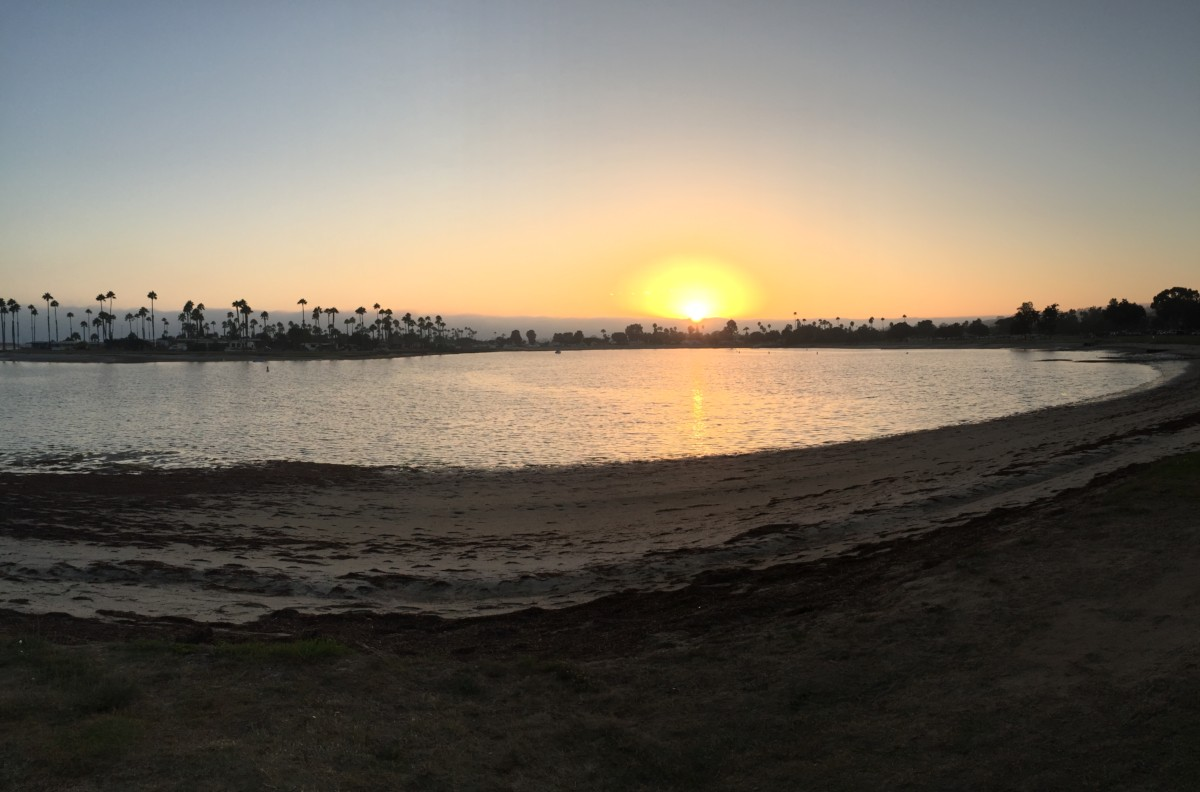 Sunset over Mission Beach.
