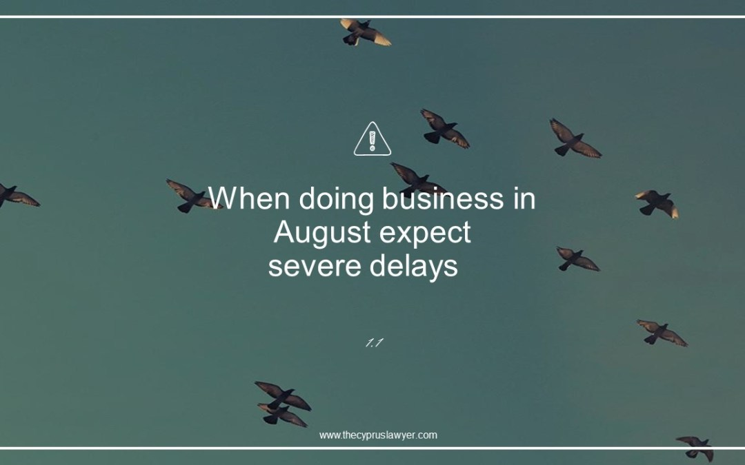 Tip 1.1 – August in Cyprus -Cyprus Companies
