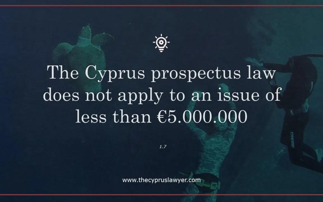 Cyprus Prospectus Law – Practical Tip 1.7