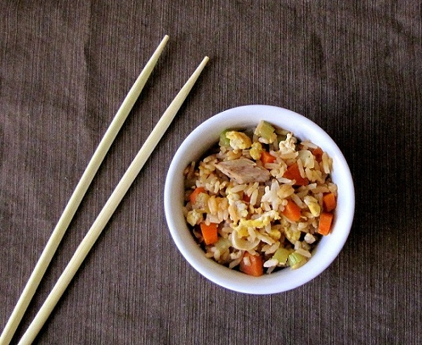 Duck and Vegetable Fried Rice