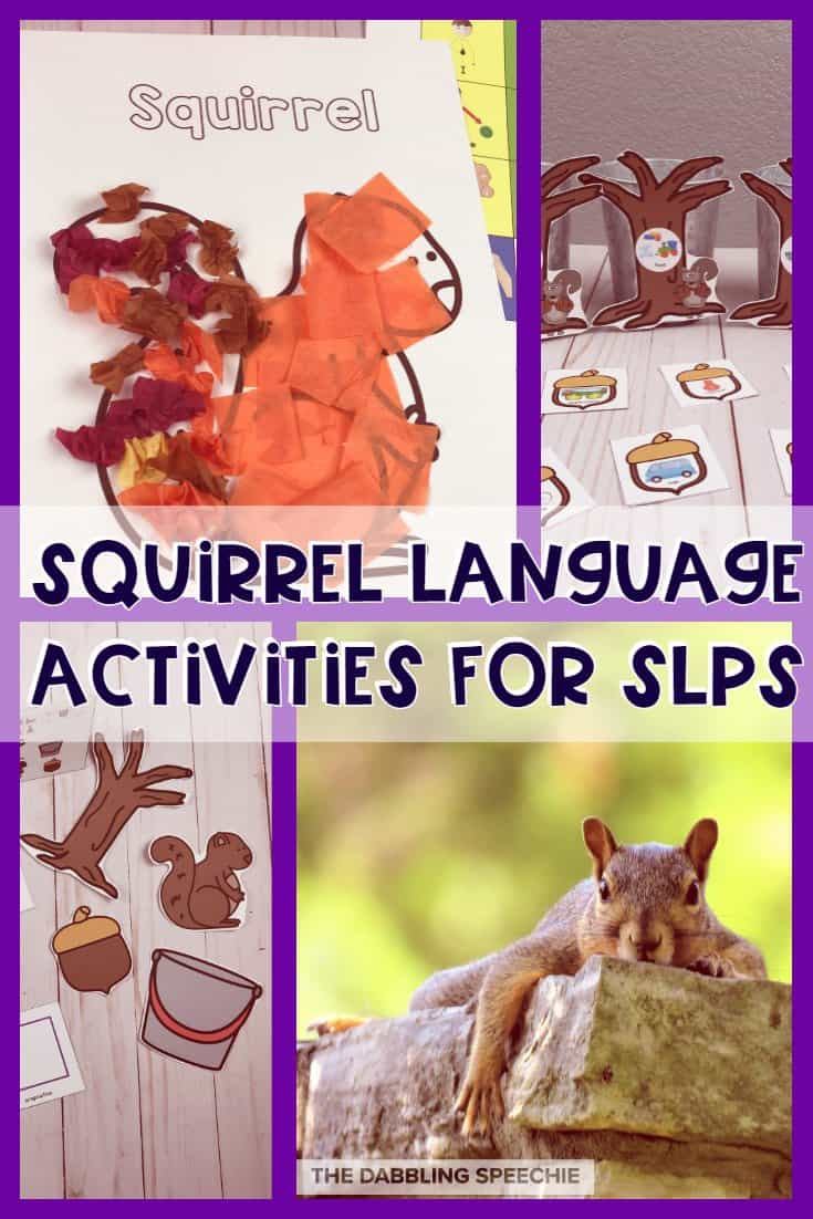 squirrel speech therapy ideas