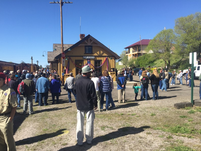 Here we are celebrating our vets at a Memorial Day Event in Chama, NM....no President ever held a rally here