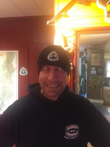 Lint modeling one of my companies new PCT beanies