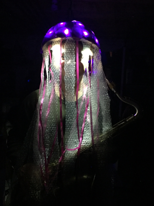 Light Up Jellyfish Costume That You Can Make