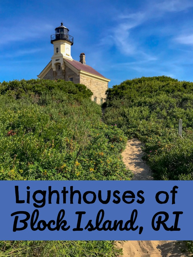 Read on to find out about lighthouses on Block Island of the coast of Block Island, Rhode Island, New England. #NewEnglandislands #lighthouses #thingstoseeinNewEngland