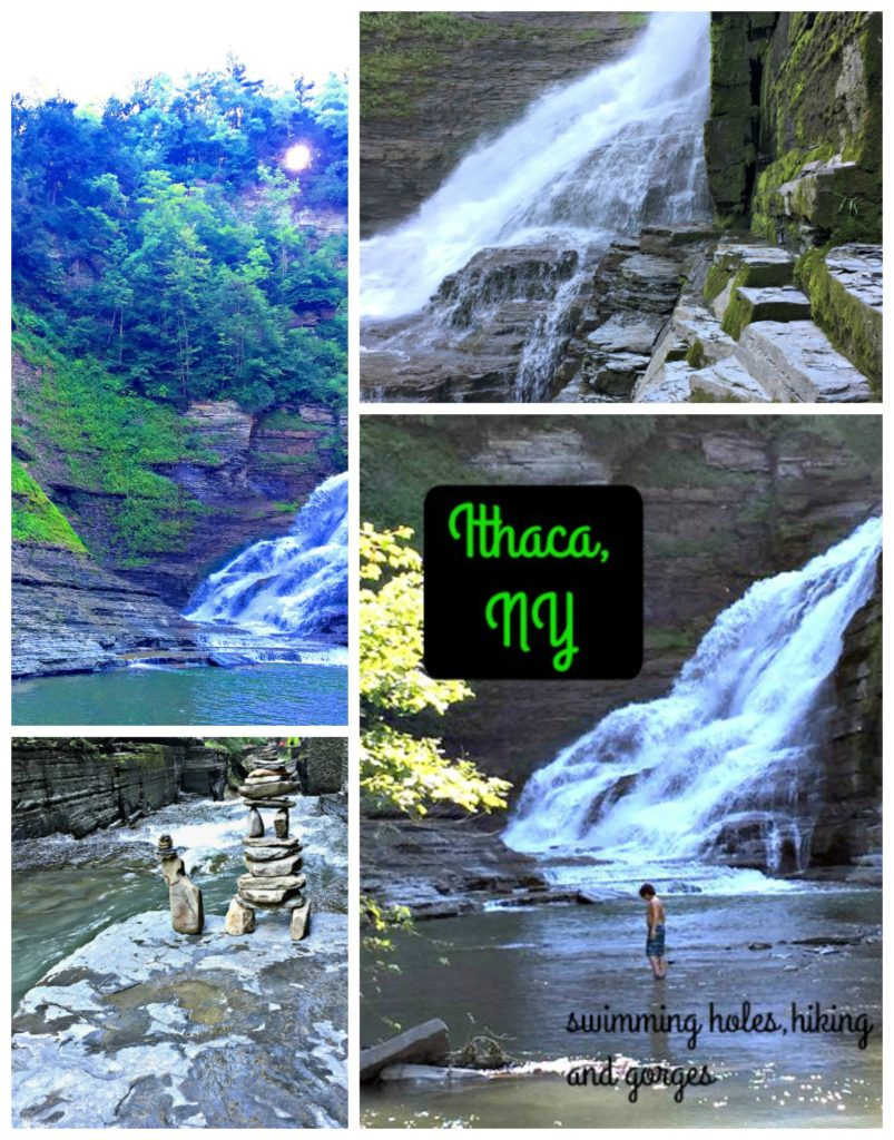 Natural waterfalls, Ithaca gorges and NY swimming hole. This NY hike with kids was a highlight of our trip to upstate New York state.