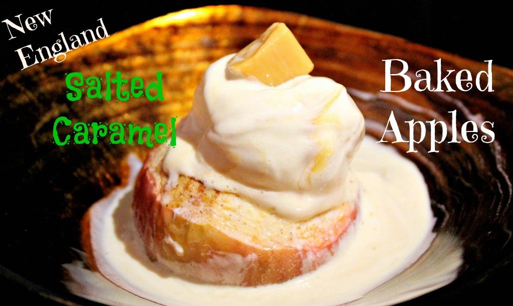 Salted Caramel Baked Apples www.thedailyadventuresofme.com
