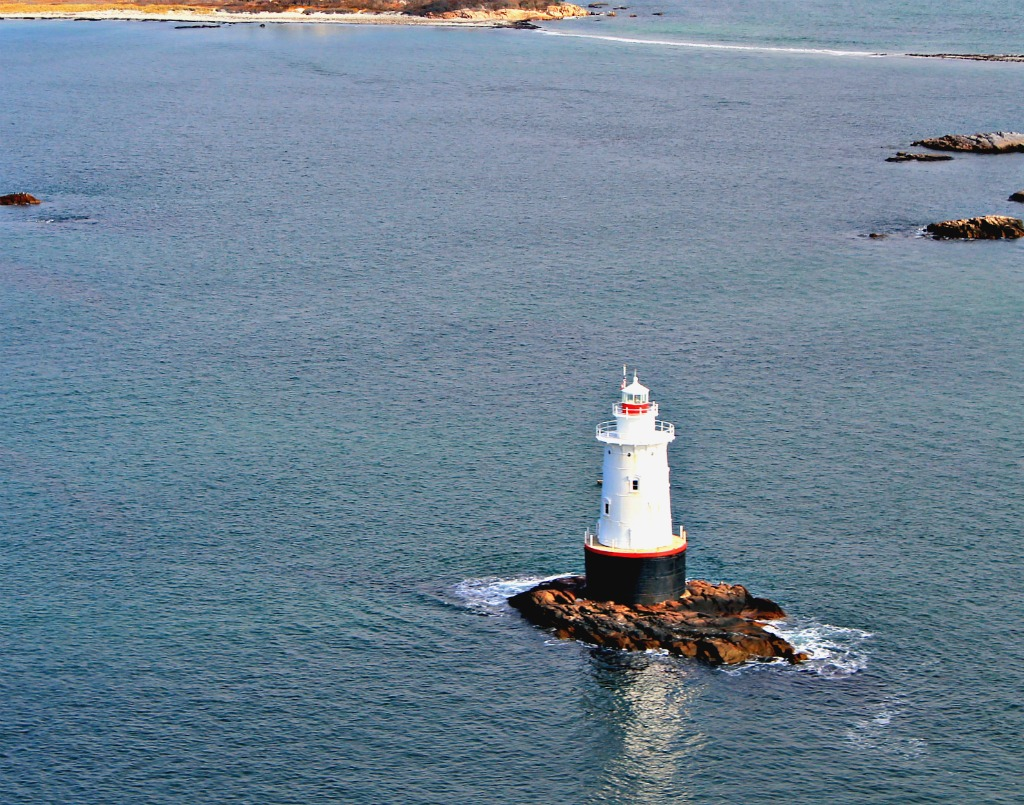 Helicopter Lighthouse Tour of Newport, Rhode Island