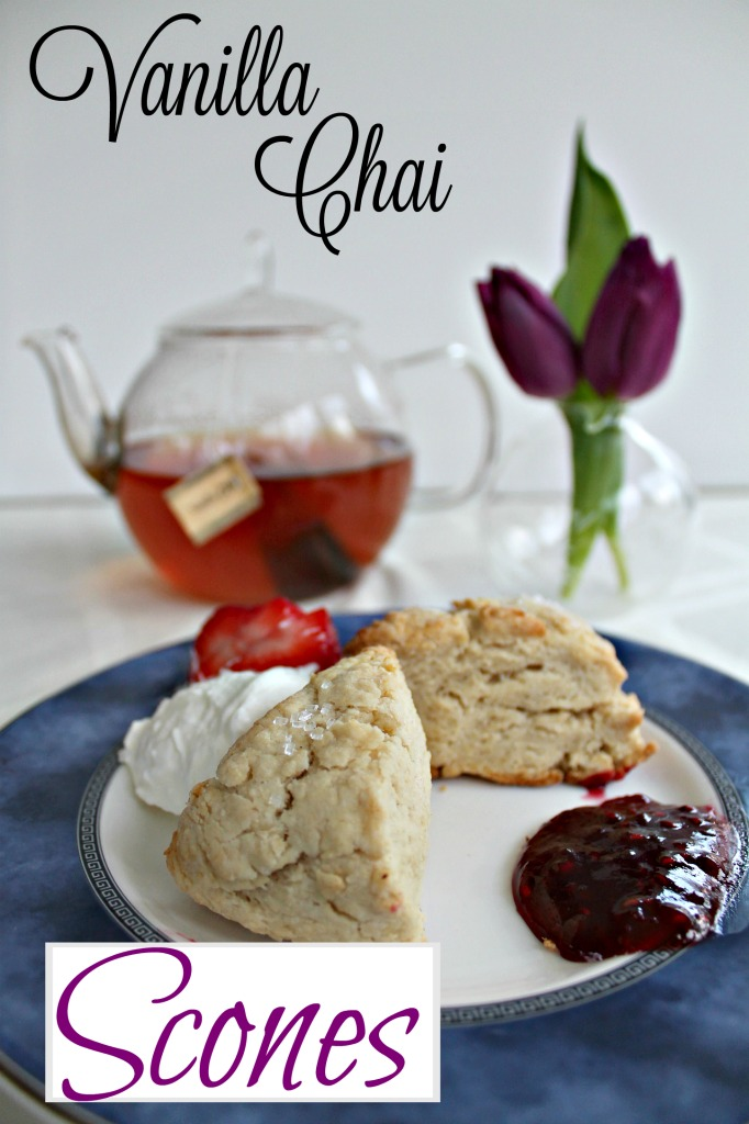 Inspired by cream teas that I had daily on my English tour, but spiced, try my Vanilla Chai Scones and take a break in your busy day to relax with a great cup of tea. #teaproudly #scones #recipes #tea #sponsored