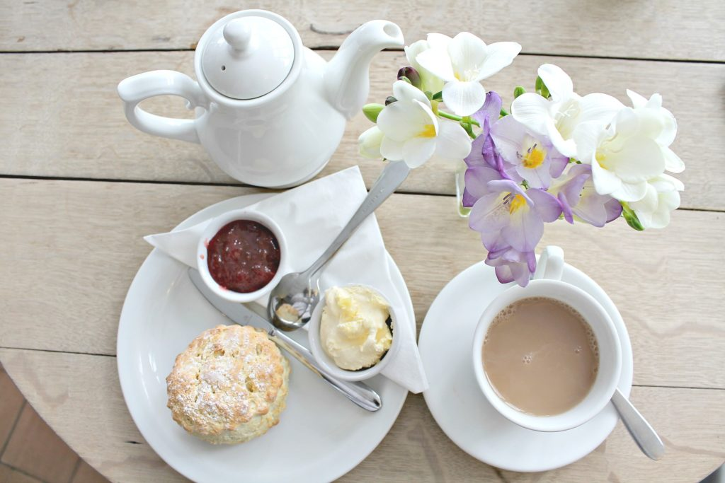 A cream tea in the Cotswolds at Lucy's Tea House. www.thedailyadventuresofme.com