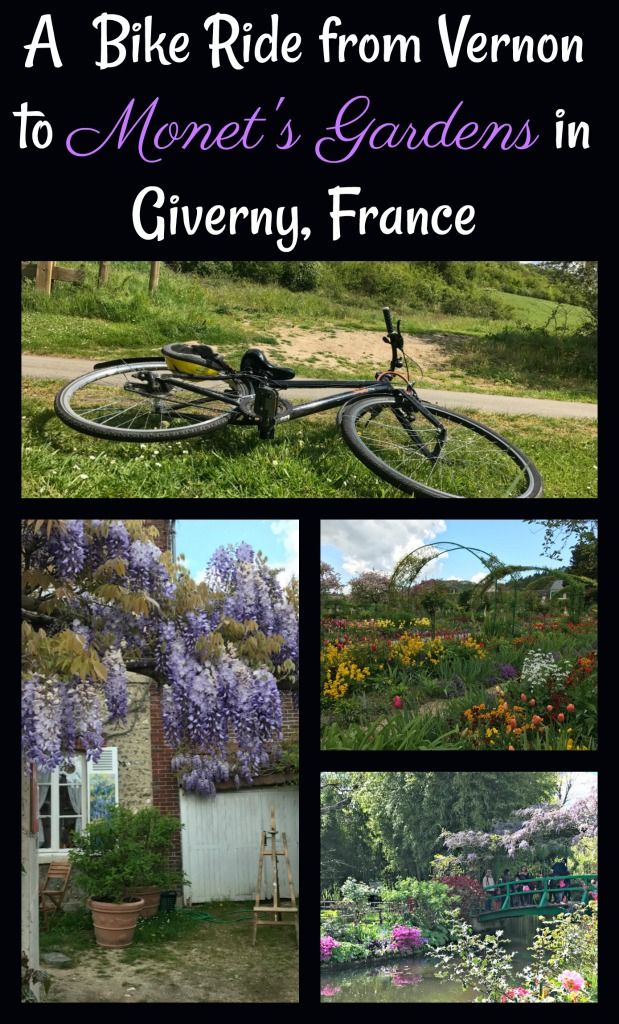 Join me on a bike ride through the medieval village of Vernon to the artist colony and Claude Monet's muse, Giverny through the French countryside.