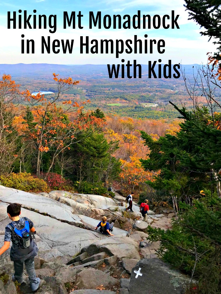 Hiking Mount Monadock with kids. This is a tough hike, but it is one my older kids loved. And mom and dad will love the views from the summit. The climb will let kids 8-13 get out their inner Spiderman. Read on for more details. #hikingwithkids #newhampshire #familytime